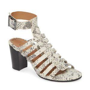 SAMI VIONIC Snakeskin High Heel Open Toe Sandal